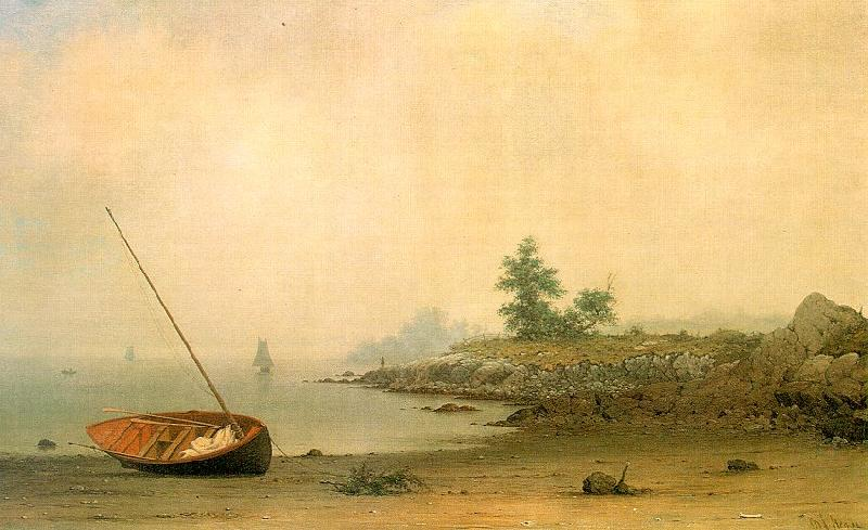 Martin Johnson Heade The Stranded Boat France oil painting art